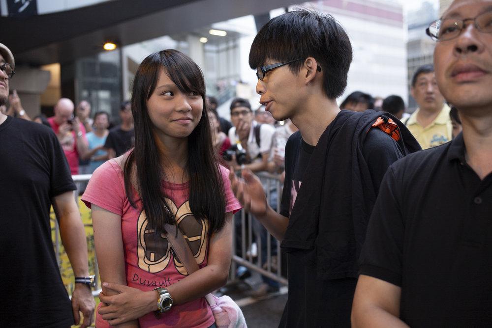 Agnes Chow Ting, Joshua Wong