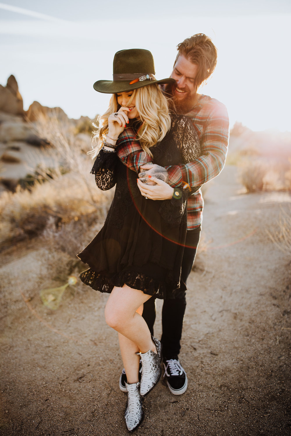 Joshua Tree Couple Engagement California