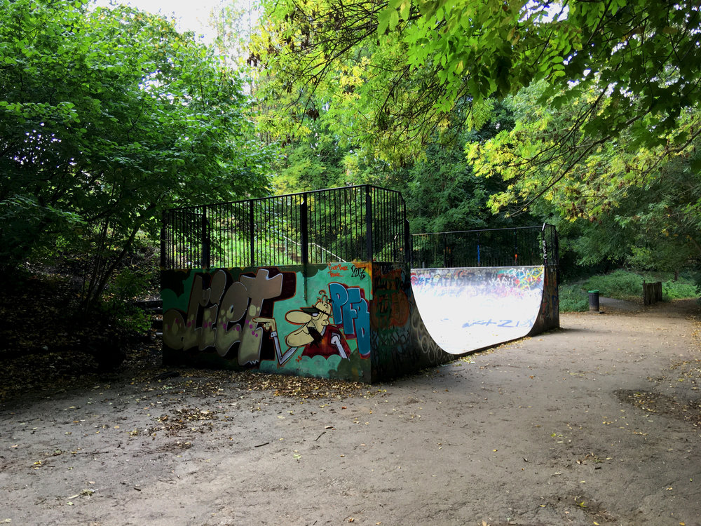 Halfpipe on the Parkland Walk.