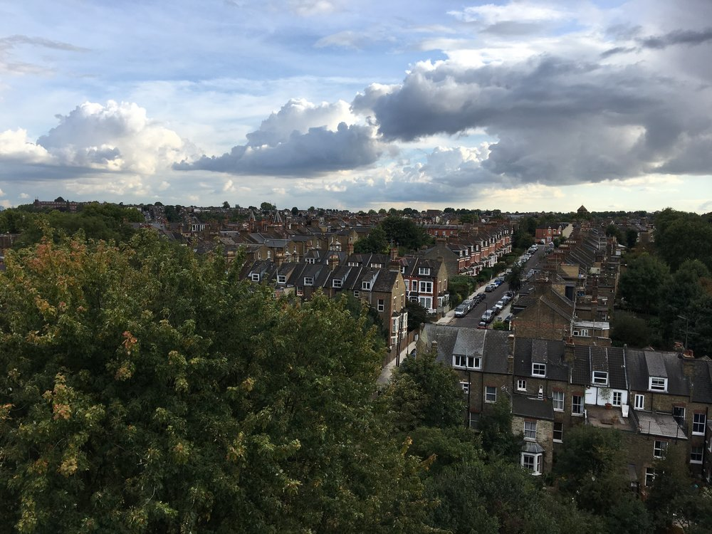 View of Hornsey from the top of St Mary's Tower.