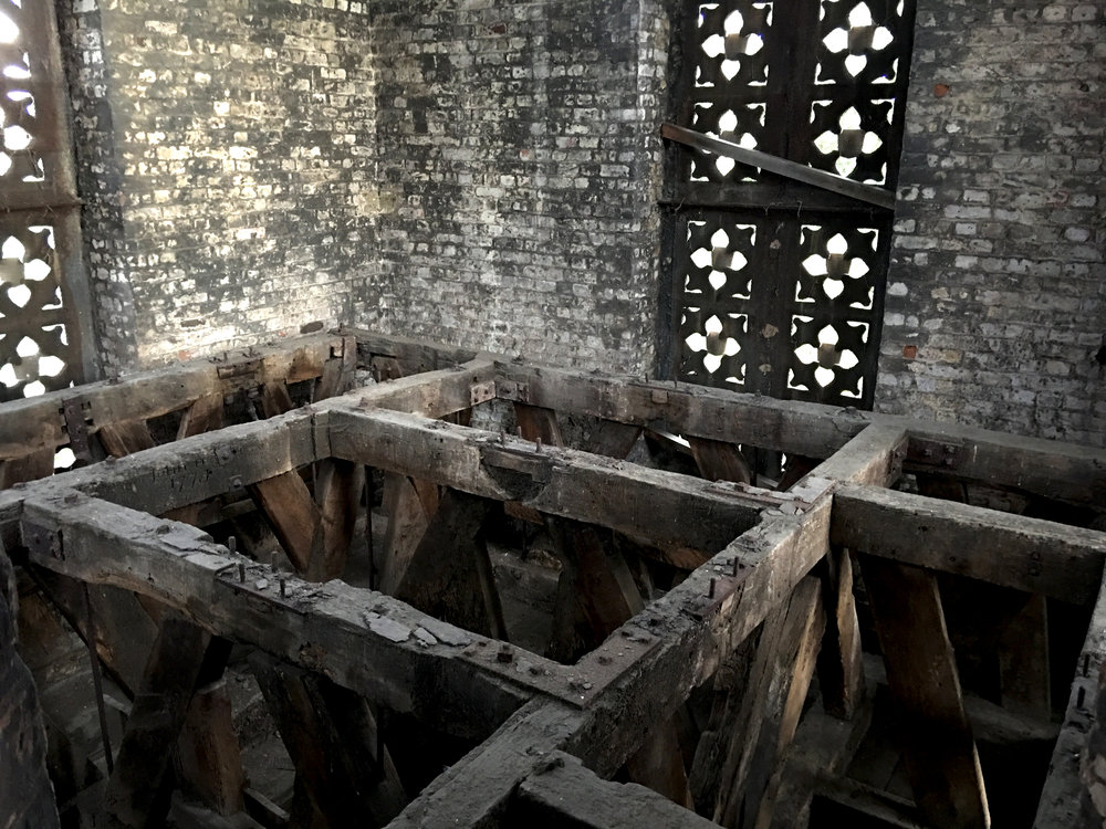 The interior of St Mary's Tower.