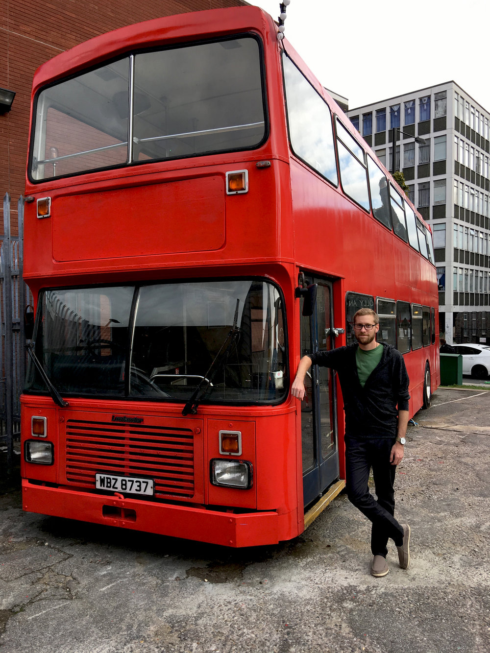An old, decommissioned bus set to be converted into a cafe at  Blue House Yard .