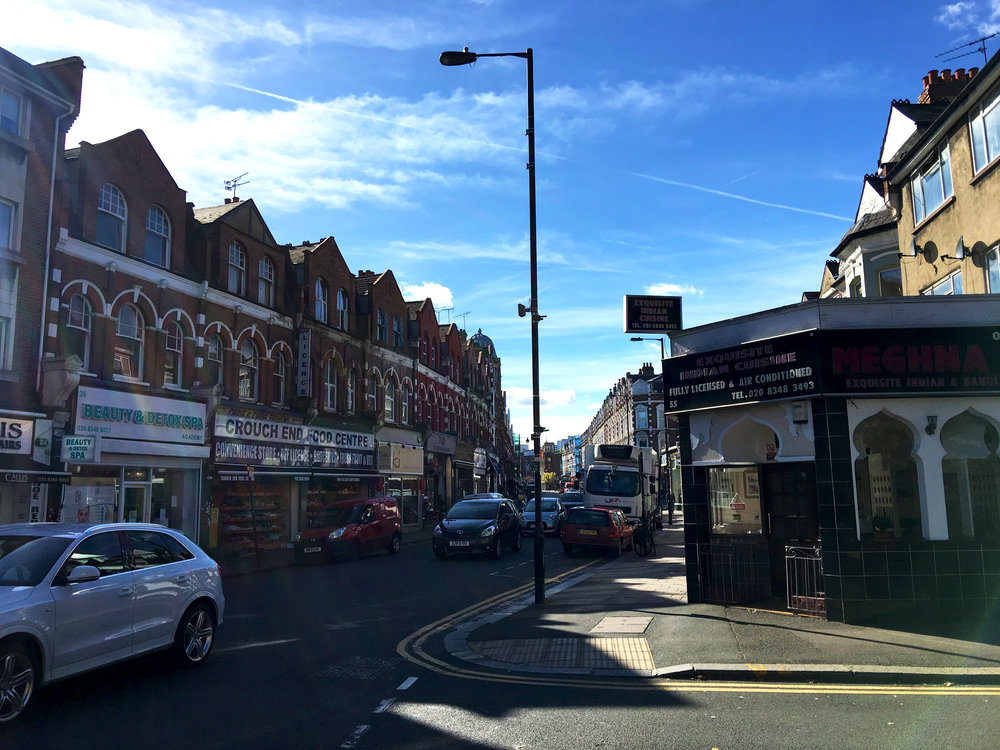 A view down Crouch End's high street.