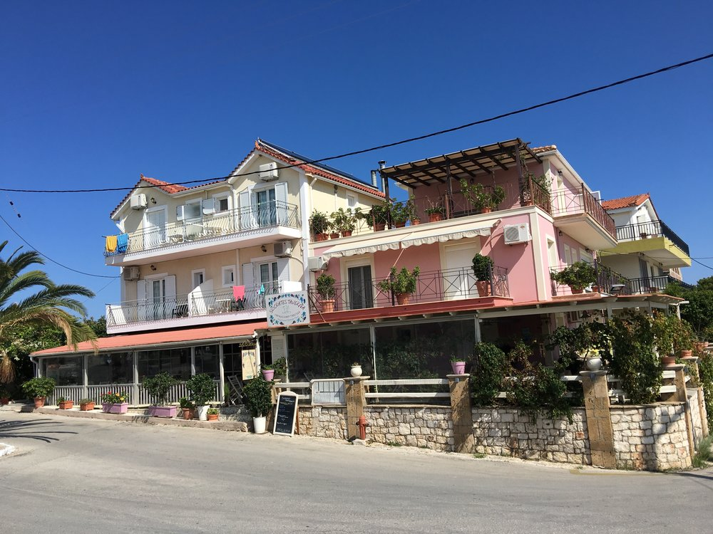 During our trip, we stayed above the Socrates Taverna, which just happened to make some of the best food in Skala.