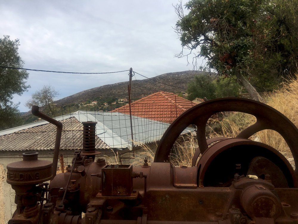 Another piece of the rusting olive press.