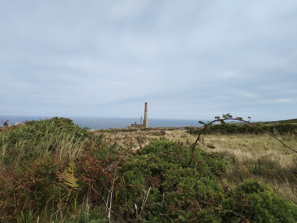 Tin has been mined in Cornwall since 2150 BC. These chimneys are from the 19th Century.