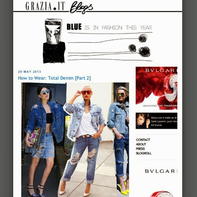 Grazia Italia Blogs - Blue Is In Fashion This Year