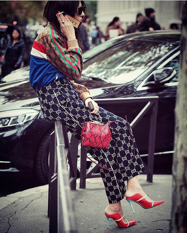 How much is too much?  #PFW  Ph. @monika.m_photography , after Miu Miu.