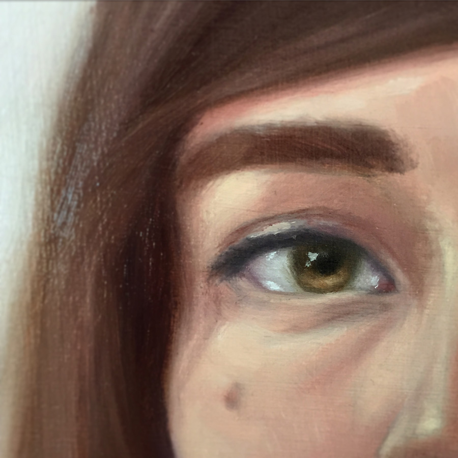 detail of a small painting (12″ x 12″) for a group show in june.