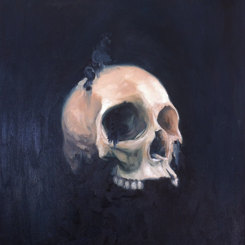 skull study. oil on canvas.