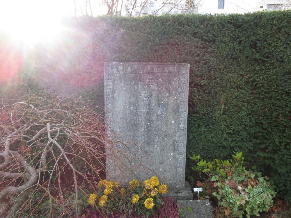 The Jung Family grave in Küsnacht, Switzerland.