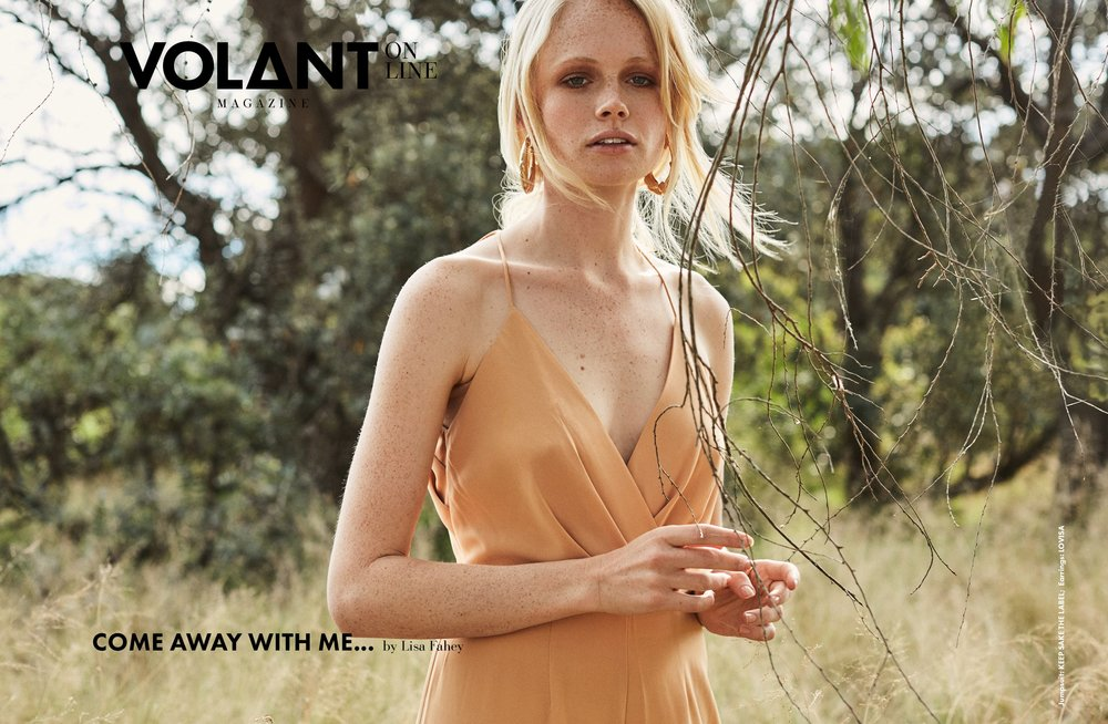 COME AWAY WITH ME - VOLANT MAGAZINE  Photography: Lisa Fahey Model: Elle @IMG Styling: Kate Lauren