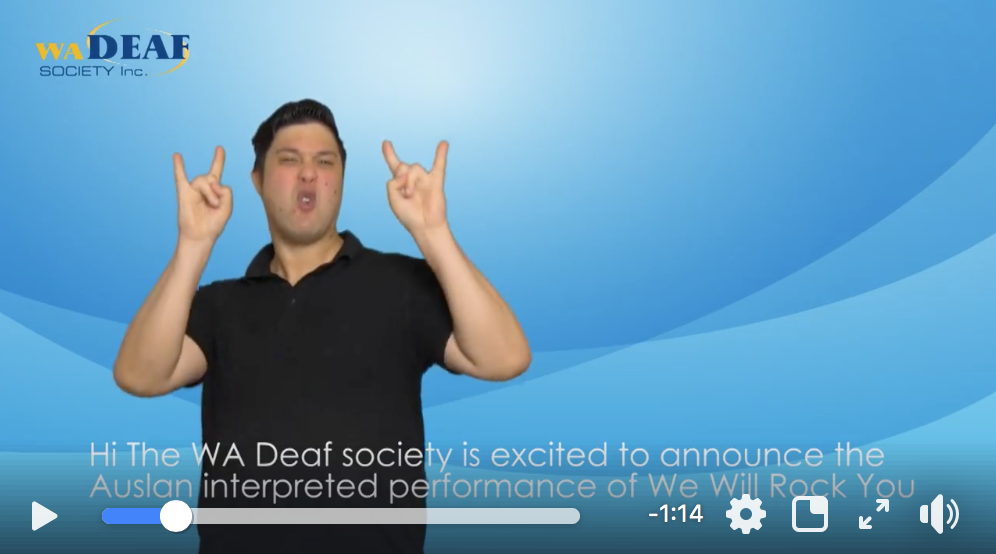 AUSLAN interpreted show a big hit with WA deaf community    Watch video >