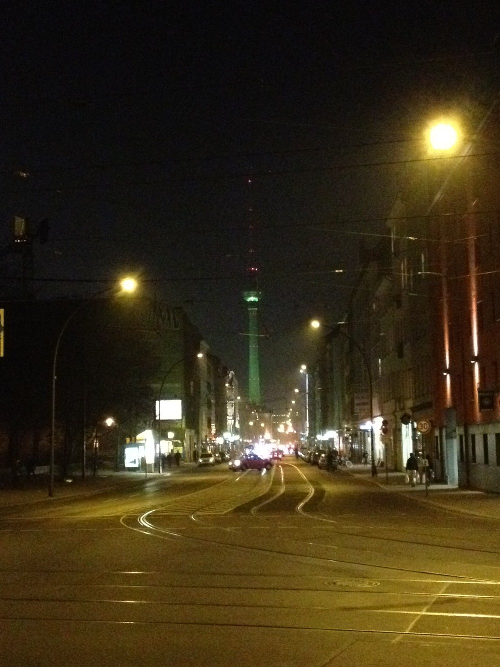 Berlin's TV Tower Lit Up Green for St. Patrick's Day - Savannah Page