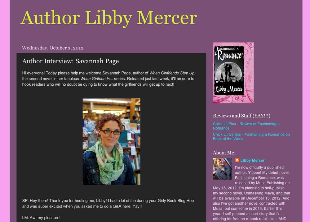 Savannah Page on Libby Mercer Blog