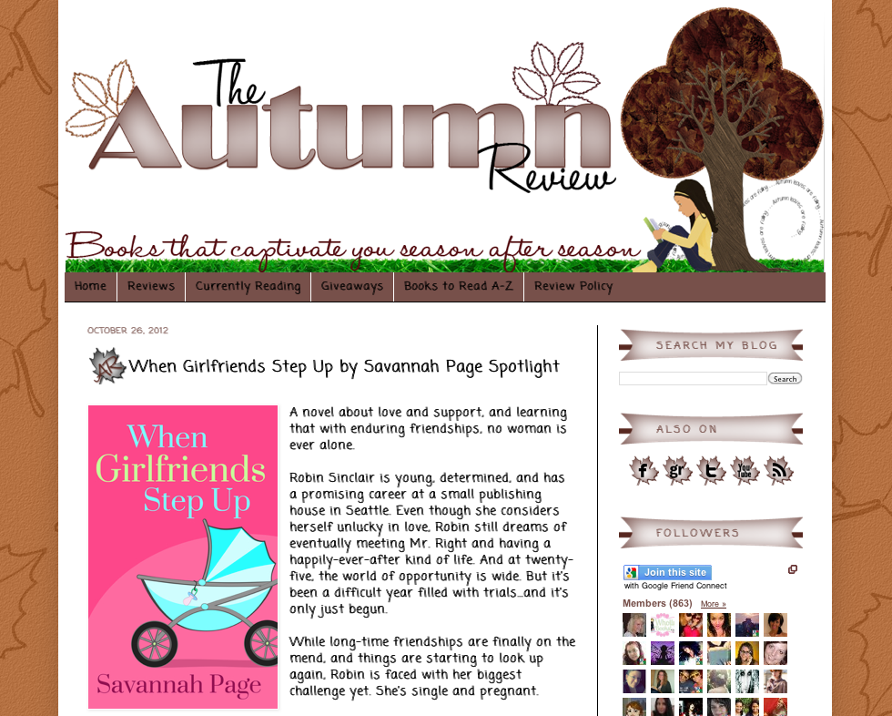 When Girlfriends Step Up on The Autumn Review - Savannah Page