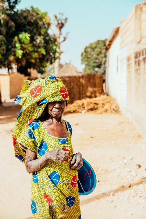 A lady photographed in Dakar, Senegal—a snapshot from Freya's Senegal Travel Diary, Pt. 1.