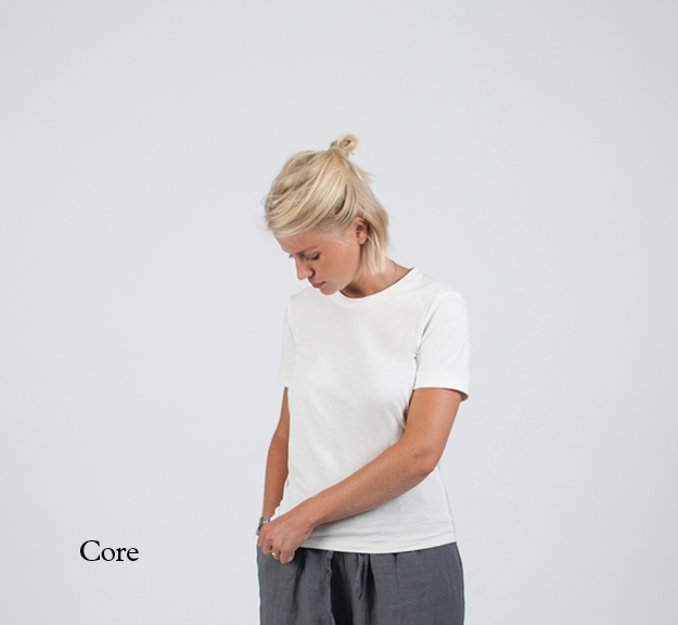 Womenswear staples in organic cotton.