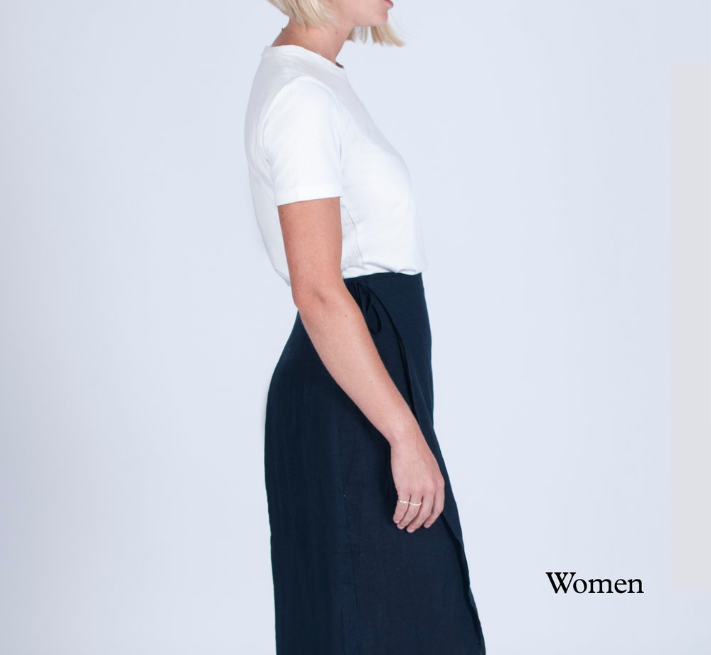 Minimal, pared-back sustainable womenswear collection.
