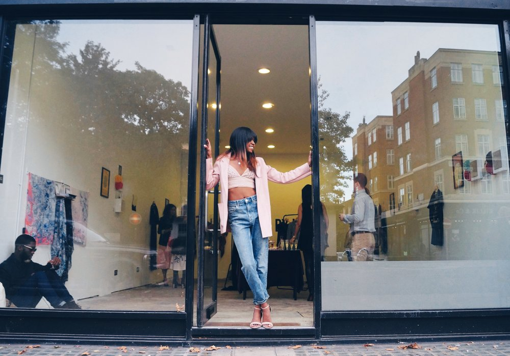 Lena at the recent NEO showroom event in Bethnal Green.