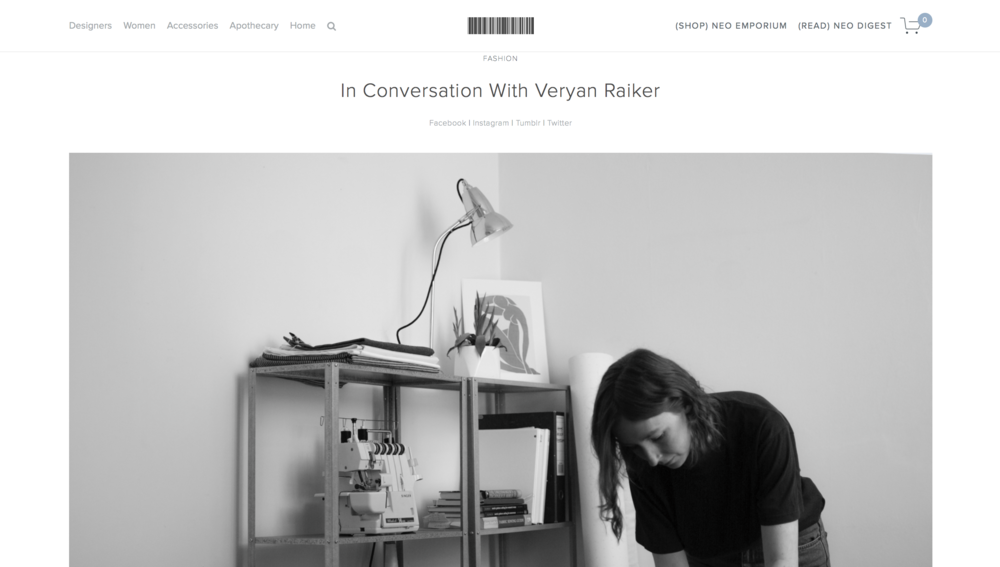 NEO by Lena in conversation with Veryan Raiker