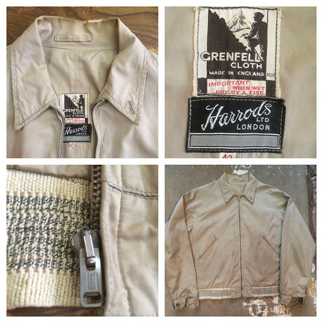1950s Grenfell/Harrods walking jacket #grenfell #harrods #vintagejacket #1950s