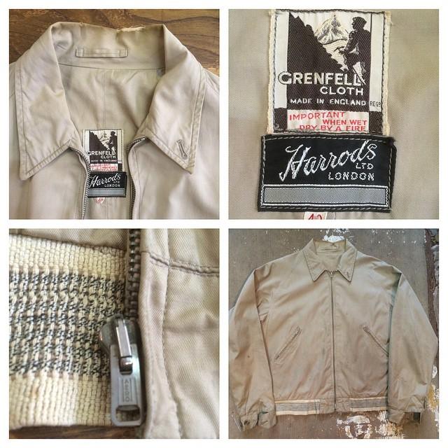 1950s Grenfell/Harrods walking jacket #grenfell #harrods #vintagejacket #1950s