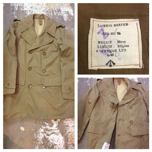 Deadstock 1945 Royal Navy reefer jacket