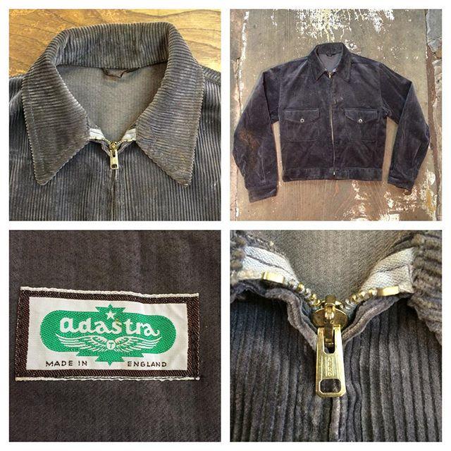 #1950s deadstock British Adastra corduroy jacket  #vintagelabel
