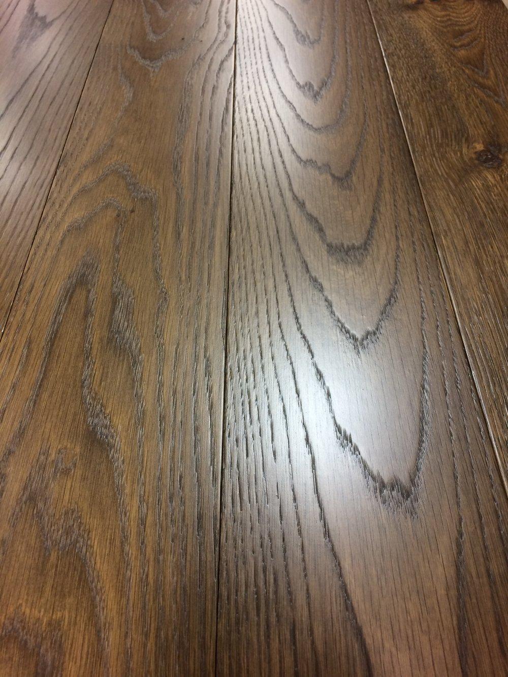 Custom width Oak and stain. 4500 L.F