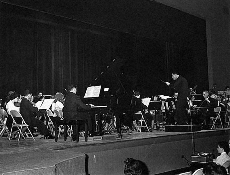 Armen with the Westchester Junior Orchestra, 1963