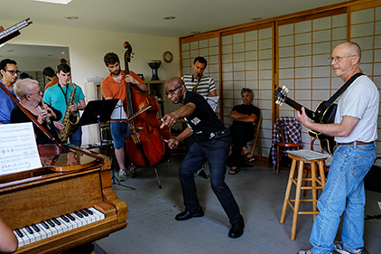 Reggie Workman in master class session