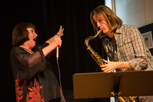 Sheila Jordan performing with Marc