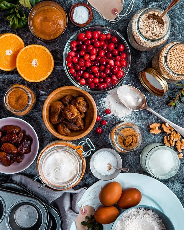 Baking in the making . . . #baking #christmasbaking #christmasmuffins #ingredients #christmasfood #foodfromabove #foodphotography #foodstylist #foodstyling #foodphoto #glutenfreemuffins #glutenfreebaking #refinedsugarfree #eeeeeats #f52grams #feedfeed #foodblogfeed #thekitchn #tastingtable #thehub_food