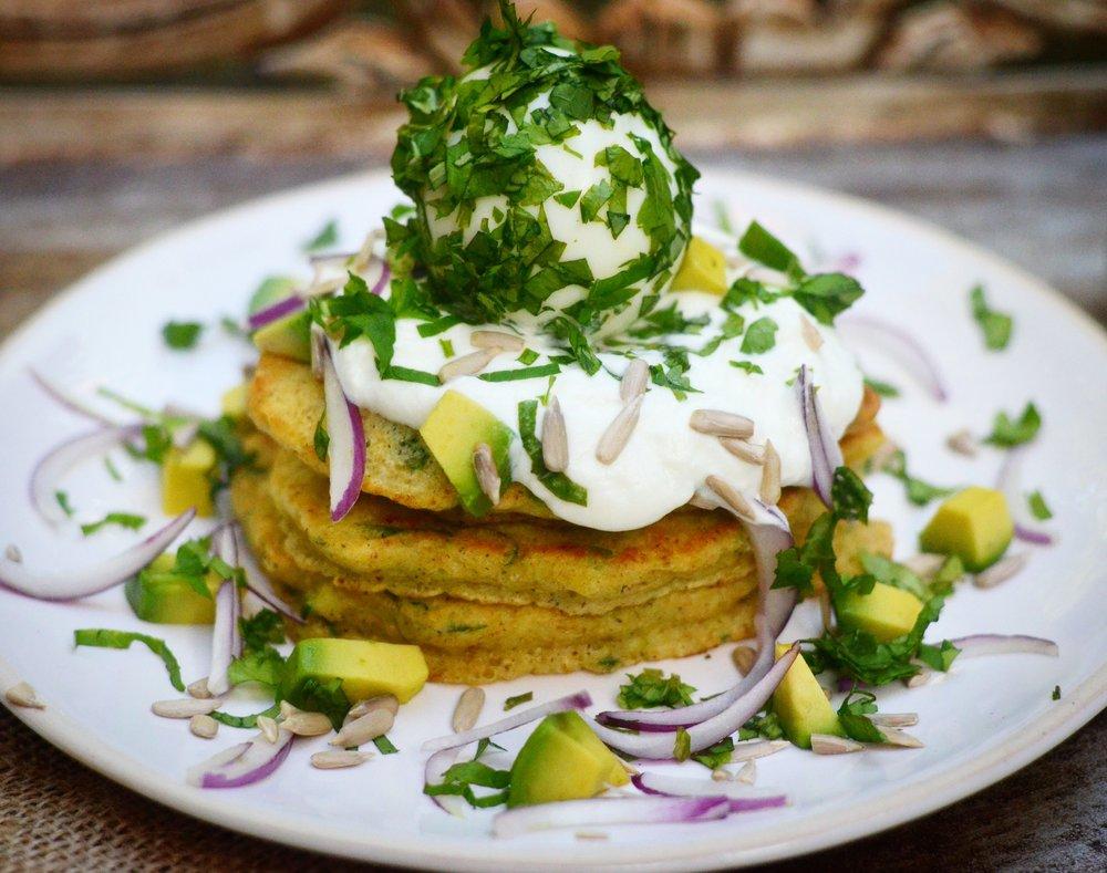 Veggie pancakes & herby egg.jpg