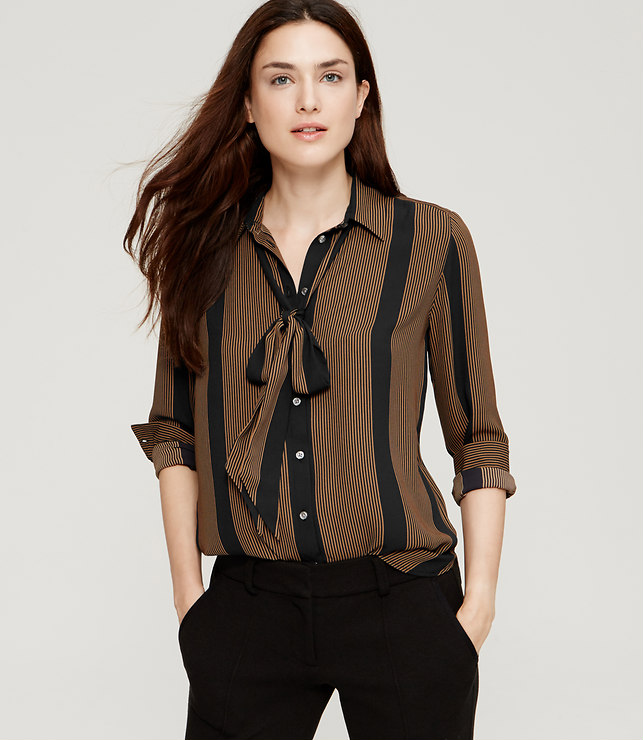 LOFTTieKneckBlouse