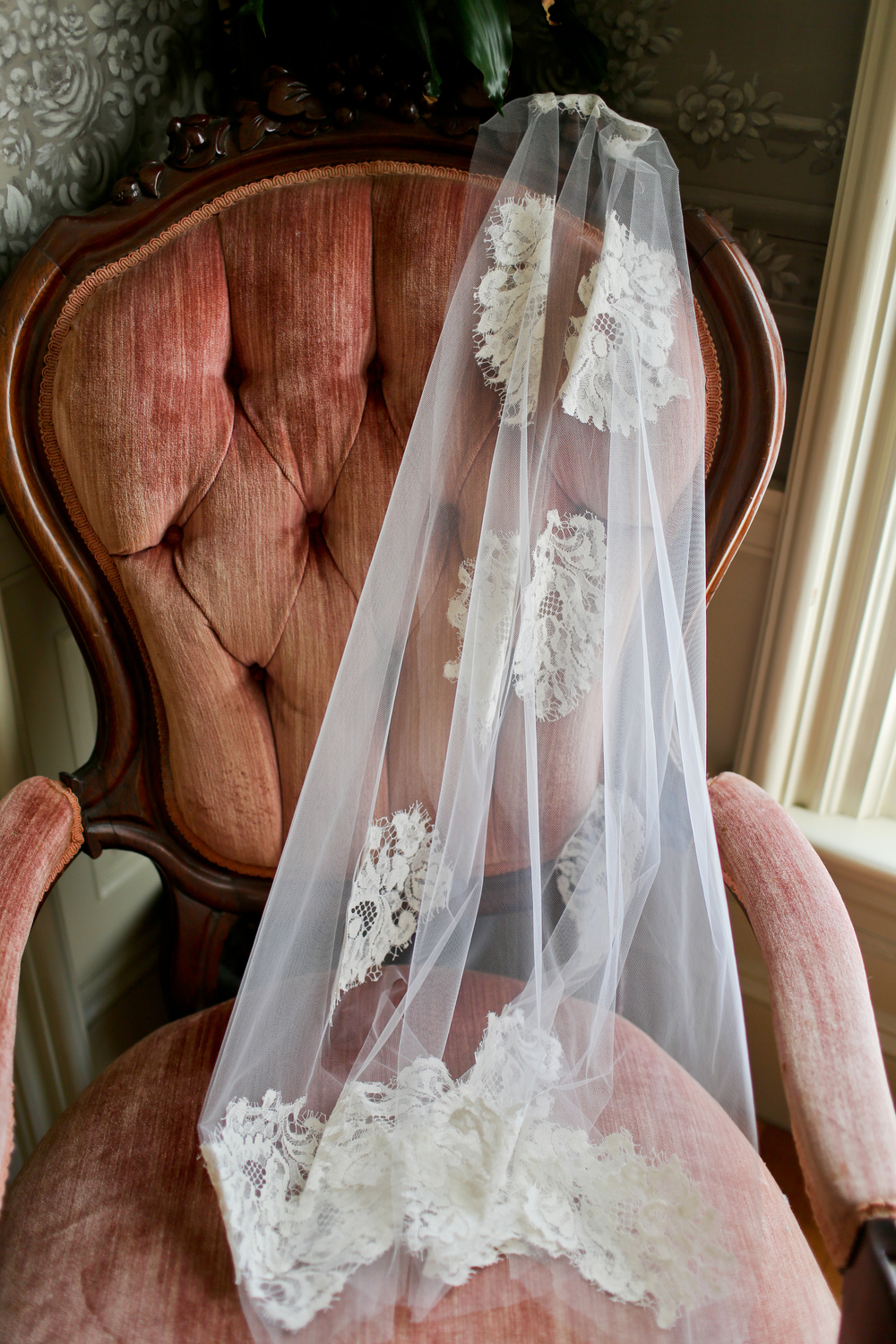 Hamilton House Maine Wedding Lace Wedding Dress