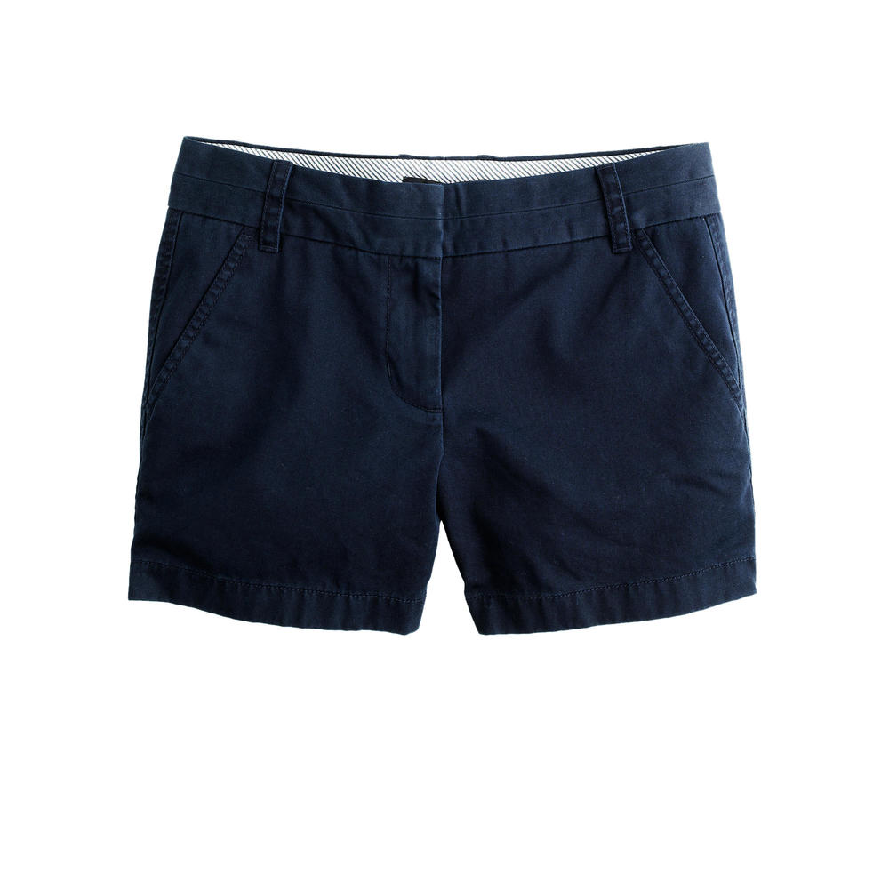 "J. Crew 4"" Chino Shorts in Navy - $39.50"