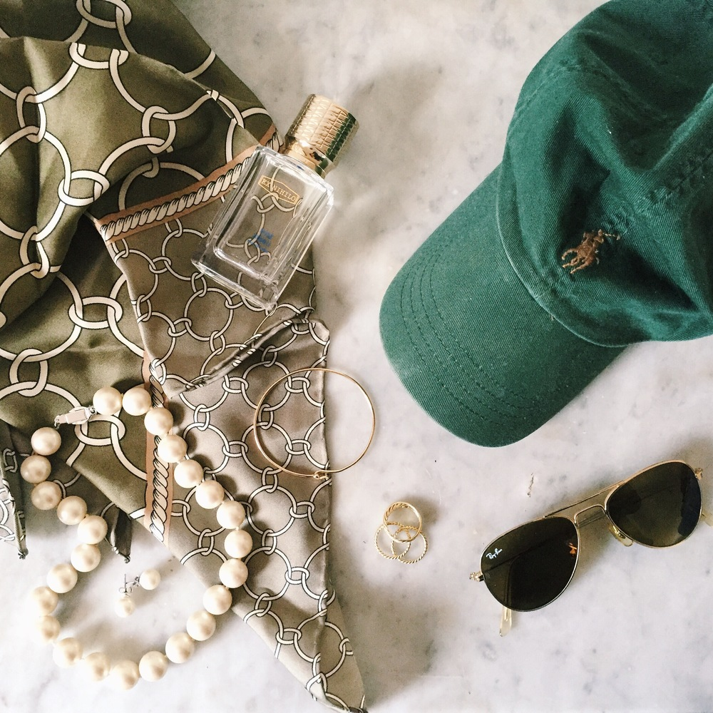 Ralph Lauren Baseball Cap Silk Scarf Brooks Brothers Pearls Ray Ban Aviators David Yurman Cable Rings