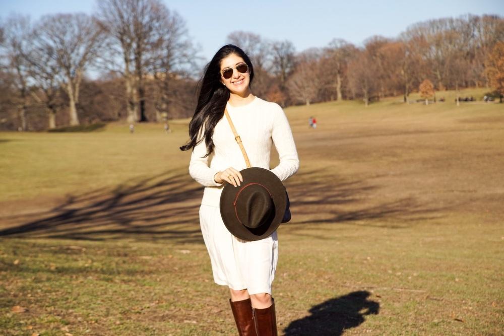 Banana Republic Silk Skirt Cashmere Sweater Louis Vuitton Crossbody Purse Salvatore Ferragamo Boots Forever 21 Fedora