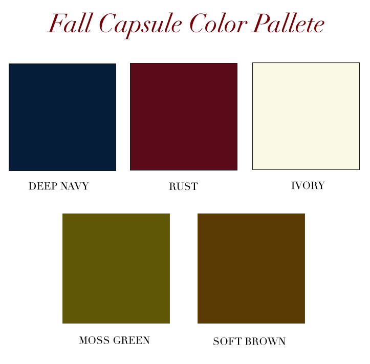 Fall Capsule Wardrobe Color Palette