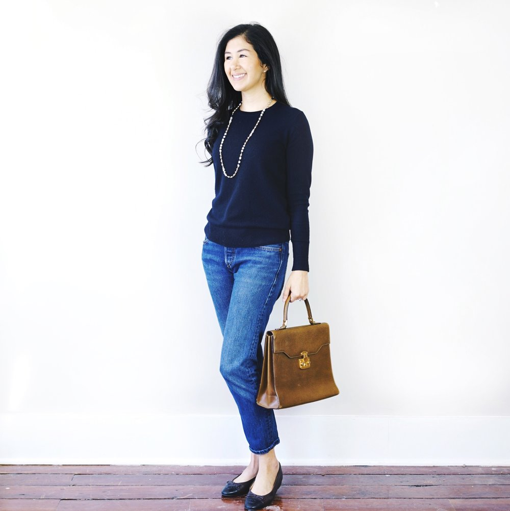 everlane-cashmere-crew-levis-501-ct-gucci-kelly-purse.JPG