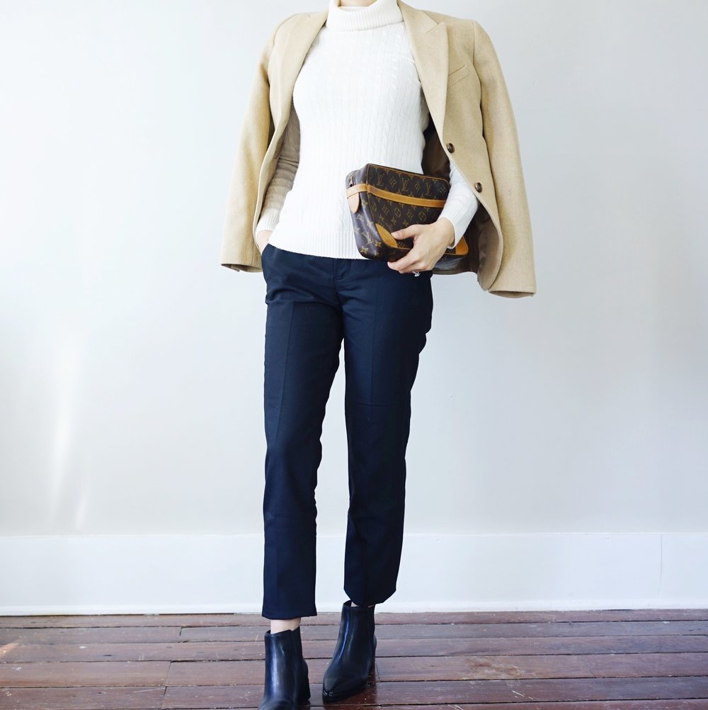 jcrew-cashmere-turtleneck-zara-pants-marc-fisher-yale-booties-louis-vuitton-clutch-brooks-brothers-camel-blazer.jpg