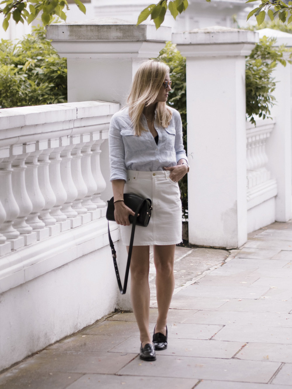 StyleMinimalism_White_Company_Linen_Shirt_Stories_Denim_Skirt_Bass_Weejuns_003 (1).jpg