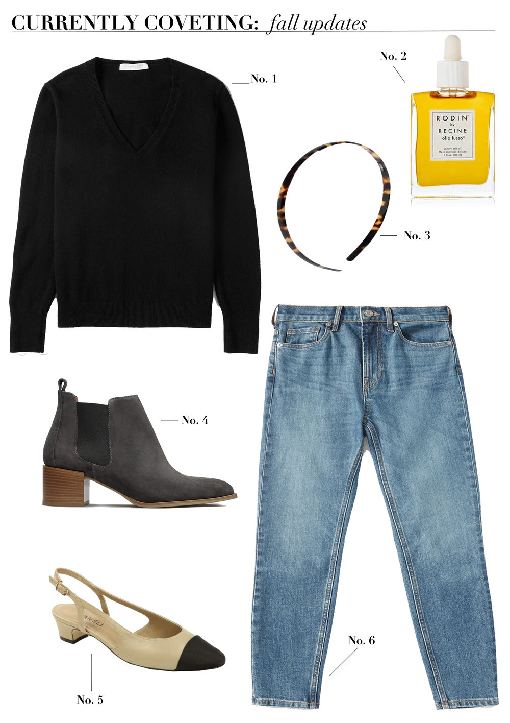 currently_coveting_fall_fashion_everlane_Cashmere_vneck_everlane_jeans_everlane_mid_rise_jeans_everlane_suede_ankle_boots_jcrew_tortoise_shell_headband_hair_oil_vaneli_aliza_pumps_vaneli_pumps_chanel_slingback_dupes_chanel_dupes.jpg