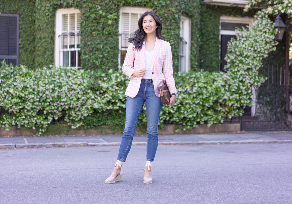 jcrew-gimgham-blazer-castaner-carina-espadrilles-louis-vuitton-clutch-everlane-jeans-everlane-tee-mejuri-diamond-necklace-jacy-watch-15.jpg
