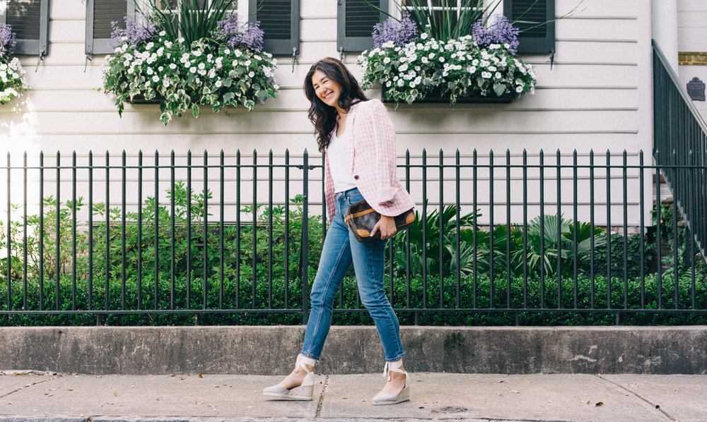 jcrew-gimgham-blazer-castaner-carina-espadrilles-louis-vuitton-clutch-everlane-jeans-everlane-tee-mejuri-diamond-necklace-jacy-watch-6.jpg