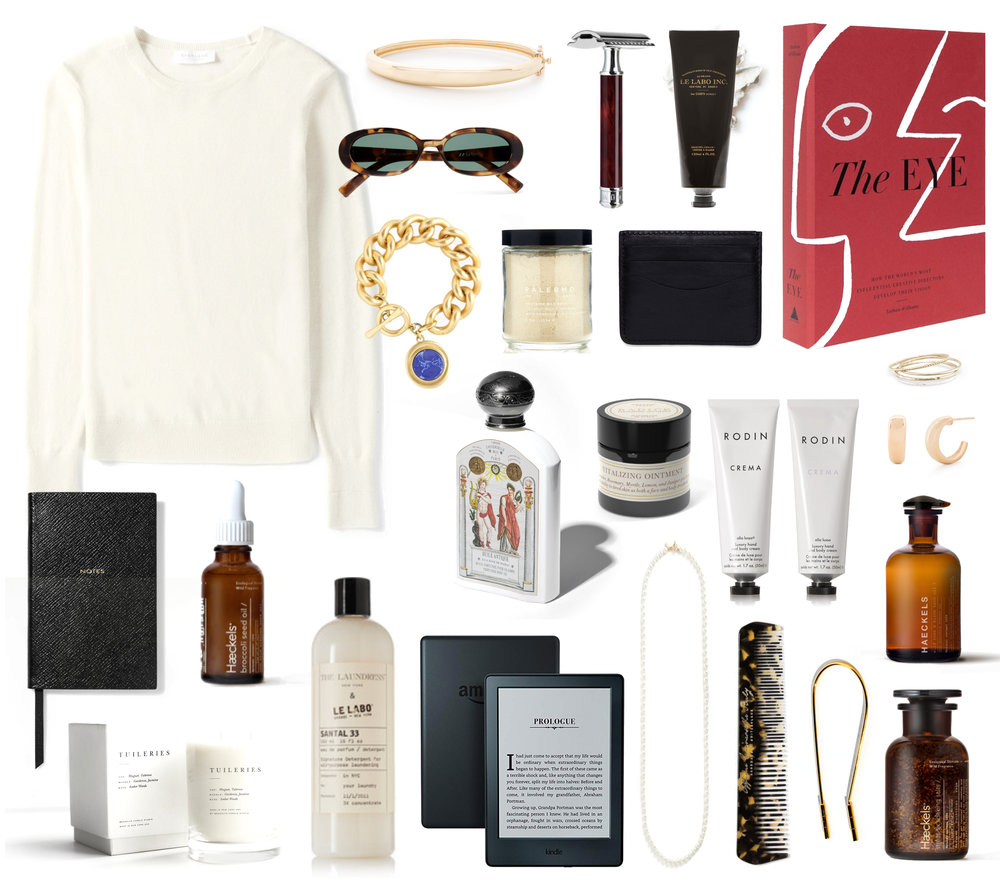 gift-guide-everlane-cashmere-crew-haeckles-skincare-buly-rose-oil-le-labo-santal-33-kindle-brooklyn-candle-studio-le-specs-sunglasses-palermo-body-rodin-hand-cream-mejuri-dome-hoops.jpg