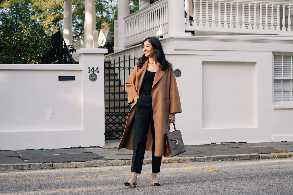 shop-curated-camel-coat-everlane-goweave-pants-vaneli-aliz-ruffs-signet-ring.jpg