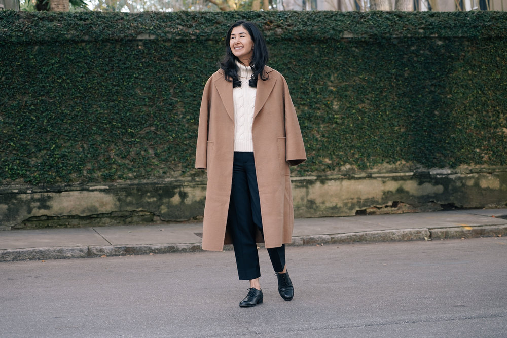 shop-curated-camel-coat-everlane-goweave-pants-wingtips-ruffs-signet-ring-mejuri-diamond-necklace-stone and strand-gold-huggies-the-curated.jpg
